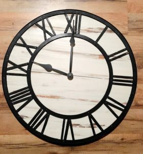 The perfect style of clock for a rustic style home